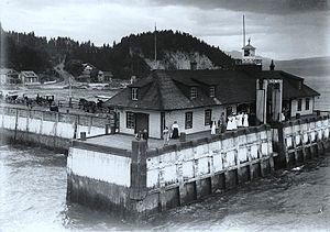 La Malbaie - Murray Bay wharf, circa 1912