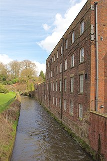 Quarry Bank Mill National Trust preserved textile mill in Cheshire, England