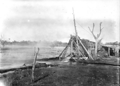 Queensland State Archives 3189 Charlotte Plains Bore No 1 partially closed c 1910.png