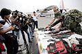 RESTOS DE TERRORISTAS ABATIDOS LLEGAN A LIMA, JUNTO A ARMAMENTO INCAUTADO (14454715355).jpg