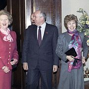 RIAN archive 778094 Visit to Great Britain by General secretary of CPSU CC Mikhail Gorbachev