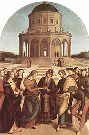 Raphael's most sophisticated altarpiece: The Wedding of the Virgin.