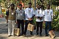 Rangan Datta - Ranjeet Kumar Vimal - Rahul Jindal - Abhishek Jain - YVS Reddy - Bengali Wikipedia 10th Anniversary Celebration - Jadavpur University - Kolkata 2015-01-10 3122.JPG