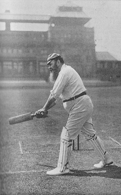 Ranji 1897 page 247 W. G. Grace cutting with the left leg across.jpg