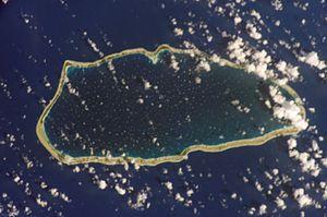 Raroia - NASA picture of Raroia Atoll