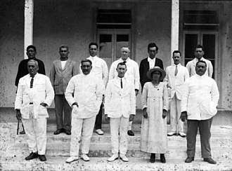 History of the Cook Islands - Image: Rarotonga Island Council 1923 1925