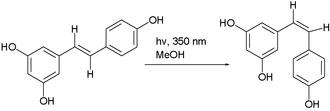 Resveratrol - Image: Rasveratrol isomerization