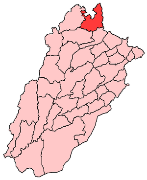Map of Punjab with Rawalpindi District highlighted