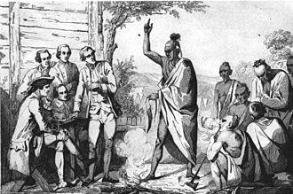 Diego de Rebolledo - Timucua men meeting settlers