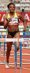 Reïna-Flor Okori Women 100 m hurdles French Athletics Championships 2013 t150042 (cropped).jpg