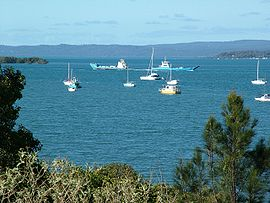 Redland Bay Passage with Ferries.JPG