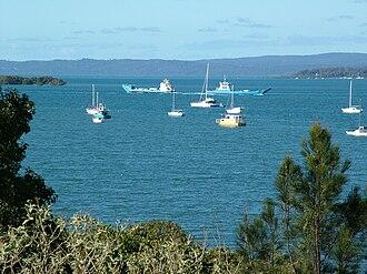 Redland Bay, Queensland - Redland Bay Passage featuring vehicular ferries servicing the Bay Islands