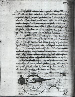 Henry Regnand - A page from Henry Regnand's manuscript Tractatus de Meteoris