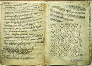 Pangur Bán - The page of the Reichenau Primer on which Pangur Bán is written