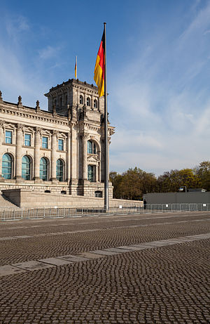 the southwestern tower of the reichstag in berlin