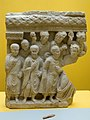 Relief, monks and worshippers, limestone, Hadda, 3rd century CE, 165102.jpg