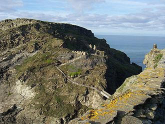 Culture of Cornwall - Remains of Tintagel Castle, according to legend the site of King Arthur's conception