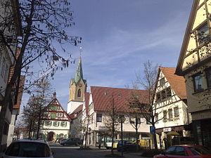 Renningen - Town centre