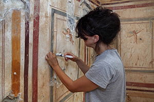 Conservation and restoration of frescos - Restoration Wall Paintings, Ephesus