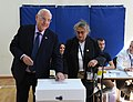 Reuven Rivlin and his wife voting on the municipal elections in Israel, Jerusalem, October 2018 (8715).jpg