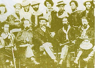 Revolution of the Lances - Revolutionary officers and soldiers under Timoteo Aparicio, 1871.
