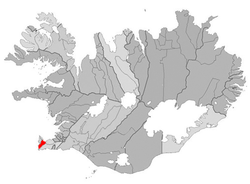 Location of the Municipality of Reykjanesbaer