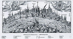 Hans Rudolf Manuel Deutsch - Panorama of the Rhein at Koln, 1548