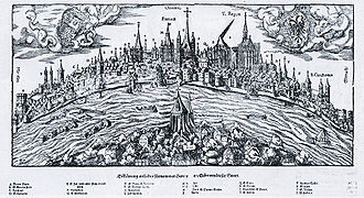 Hans Rudolf Manuel Deutsch - Panorama of the Rhine at Cologne, 1548