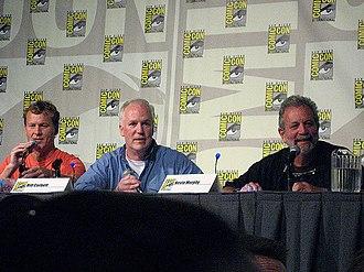 Mystery Science Theater 3000 - Nelson, Corbett, and Murphy, the primary actors in the Sci-Fi channel era, as part of their RiffTrax panel in 2009