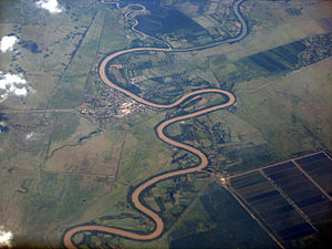 Meander - Meanders of the Rio Cauto at Guamo Embarcadero, Cuba.