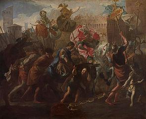 Le Roi Théodoric Ier mène le Comte Litorius captif