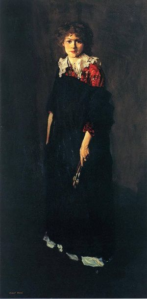 Josephine Hopper - The Art Student (1906) by Robert Henri is a portrait of Josephine Hopper at 22.