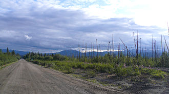 Robert Campbell Highway - Campbell Highway near Simpson Lake