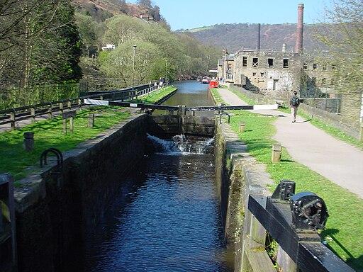 Rochdale Canal at Hebden Bridge