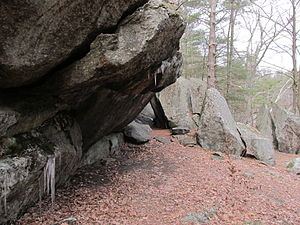 Rock shelter, Rock House Reservation, West Brookfield MA.jpg