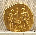 Roma, repubblica, statere in oro del giuramento, post 269 ac 02.JPG