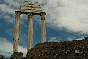 Temple of Castor and Pollux - Image: Roma tempiodioscuri 01