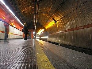 Spagna (Rome Metro) - Image: Roma Spagna metro station