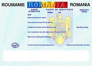 Romanian identity card - The model issued starting with 2009, that specifies the Romanian nationality and not the parent's first name