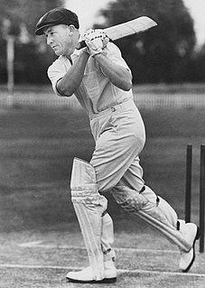 Ron Hamence with the Australian cricket team in England in 1948 Australian cricketer
