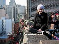 Rooftop celebration in New York City Feb 2005.jpg
