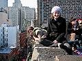 Rooftop celebration in New York City Feb 2005.jpg
