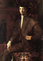 Portrait of a Young Man Seated on a Carpet