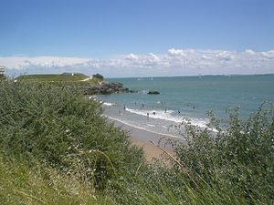 the beach of Chay at Royan during a summer day