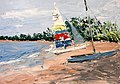 Roz's Sailboat by David Fairrington Oil 2011.jpg