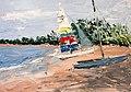 Roz's Sailboat by David Fairrington Oil 2011.jpg