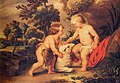 Rubens workshop Christ and John Baptist as children Porczynski Collection.jpg