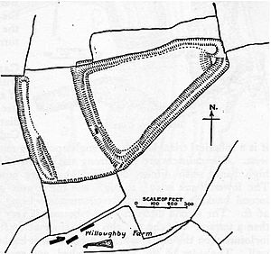 Ruborough Camp - Plan of earthworks at Ruborough Camp