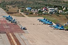 Russian Naval Aviation aircraft at Novofedorovka airbase.jpg