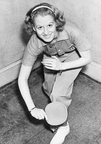 Ruth Aarons - Aarons as USA's 1936 World Women's Singles Champion.